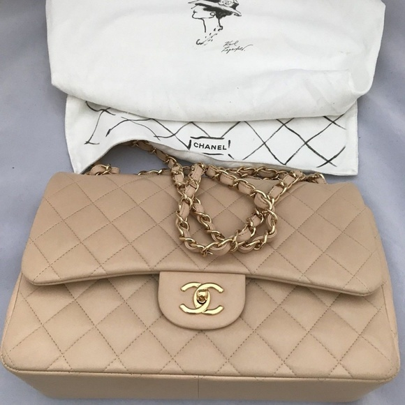 f28f8ee1c207 CHANEL Bags | Light Beige Quilted Lambskin Jumbo Bag | Poshmark